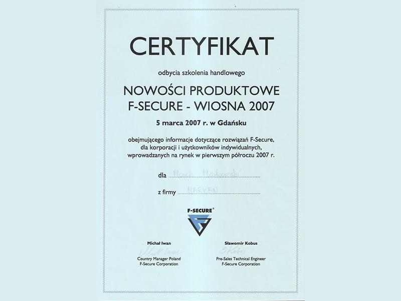 Certyfikat-Nowosci-f-secure-2007