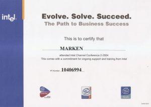 2004 Certyfikat Intel2