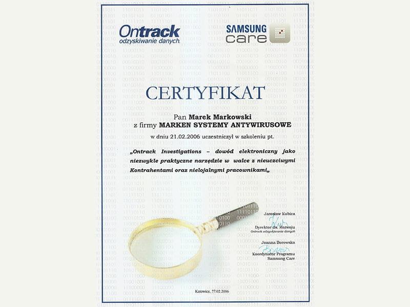 2006-Certyfikat-Ontrack2