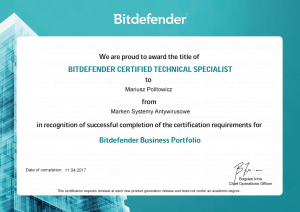 Bitdefender_diploma_GZ_tech_marken_mariusz_p