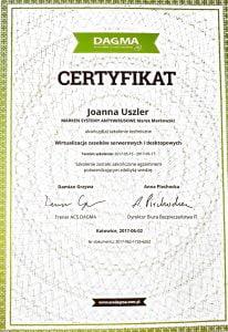 JoannaUszler_CertyfikatDaga