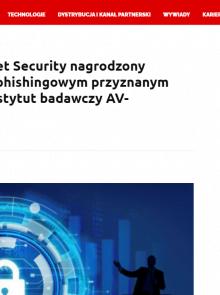 Bitdefender Internet Security nagrodzony certyfikatem anty-phishingowym przyznanym przez niezależny instytut badawczy AV-Comparatives