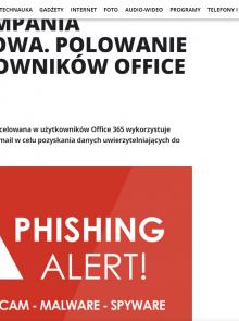 Nowa kampania phishingowa. Polowanie na użytkowników Office 365