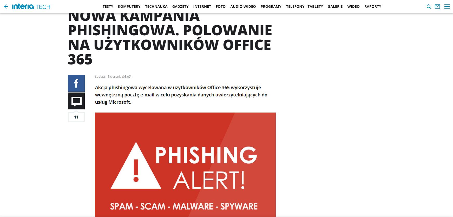 Nowa kampania phishingowa