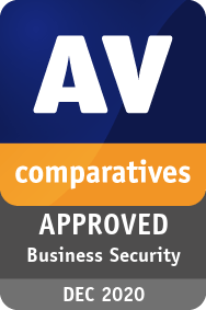 Certyfikat AV-Comparatives Approved Business Security Product Award 2020